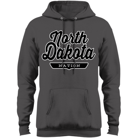 Charcoal / S North Dakota Hoodie - The Nation Clothing