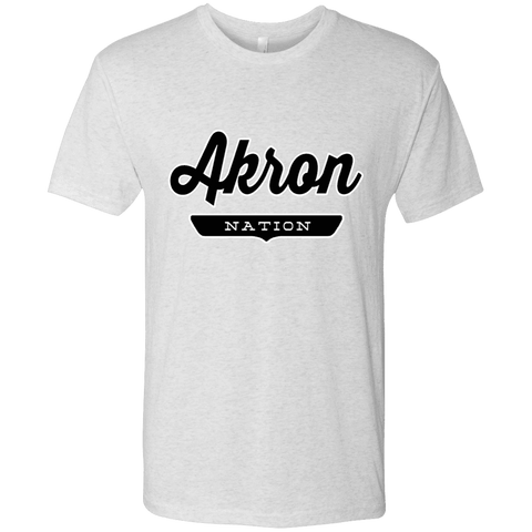 Heather White / S Akron Nation T-shirt - The Nation Clothing