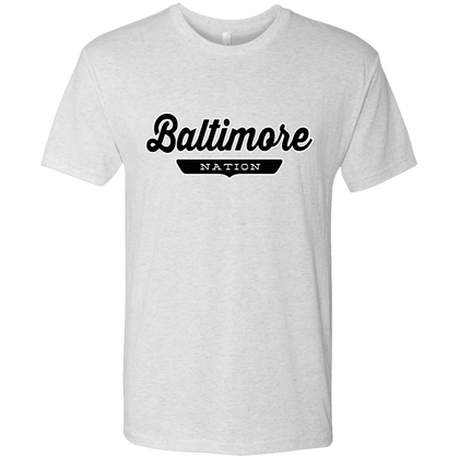 Heather White / S Baltimore Nation T-shirt - The Nation Clothing