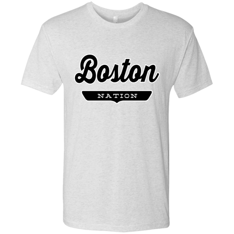 Heather White / S Boston Nation T-shirt - The Nation Clothing