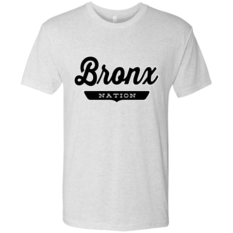 Heather White / S Bronx Nation T-shirt - The Nation Clothing