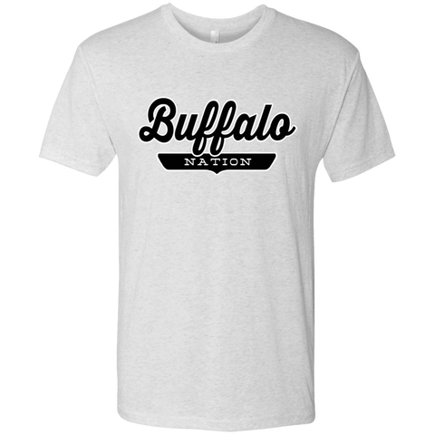 Heather White / S Buffalo Nation T-shirt - The Nation Clothing
