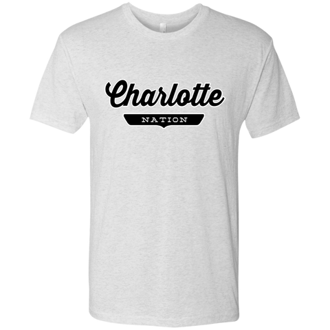 Heather White / S Charlotte Nation T-shirt - The Nation Clothing