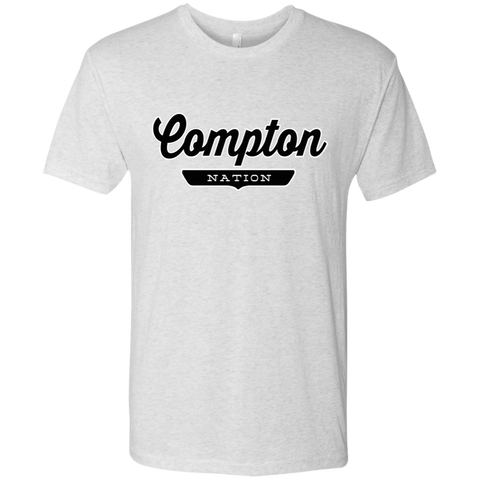 Heather White / S Compton Nation T-shirt - The Nation Clothing