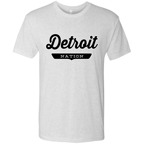 Heather White / S Detroit Nation T-shirt - The Nation Clothing