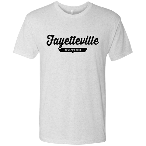 Heather White / S Fayetteville Nation T-shirt - The Nation Clothing