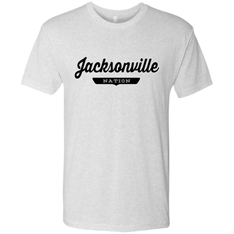 Heather White / S Jacksonville Nation T-shirt - The Nation Clothing