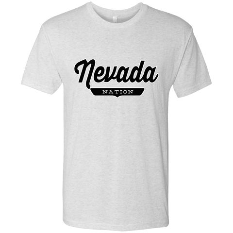 Heather White / S Nevada Nation T-shirt - The Nation Clothing
