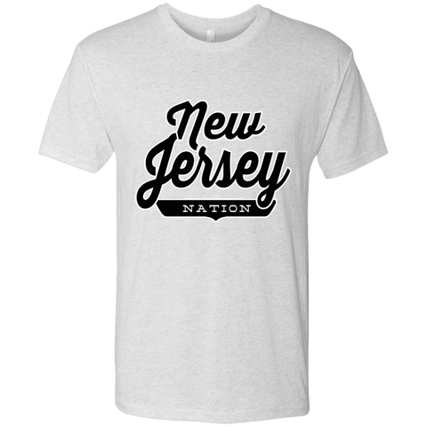 Heather White / S New Jersey Nation T-shirt - The Nation Clothing