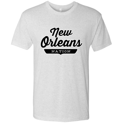 Heather White / S New Orleans Nation T-shirt - The Nation Clothing