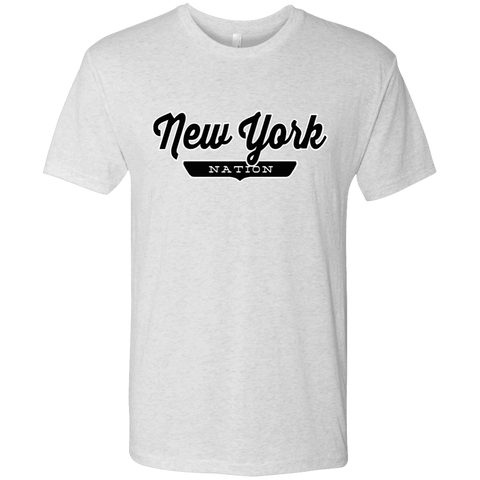 Heather White / S New York City Nation T-shirt - The Nation Clothing