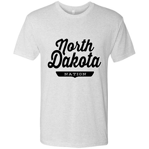 Heather White / S North Dakota Nation T-shirt - The Nation Clothing