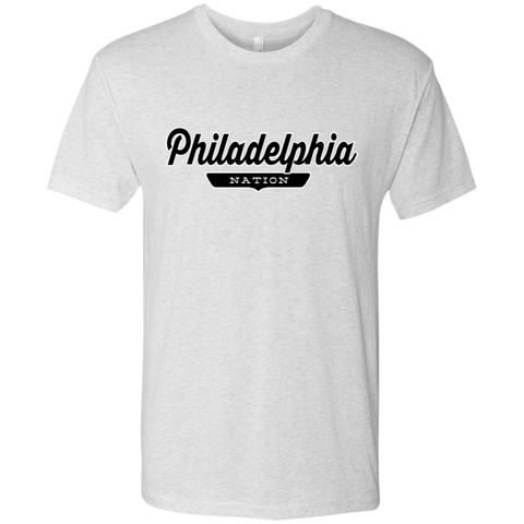Heather White / S Philadelphia Nation T-shirt - The Nation Clothing