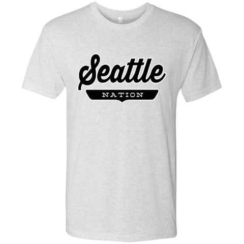 Heather White / S Seattle Nation T-shirt - The Nation Clothing