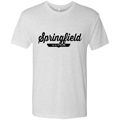 Heather White / S Springfield Nation T-shirt - The Nation Clothing