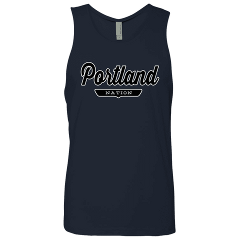 Midnight Navy / S Portland Nation Tank Top - The Nation Clothing