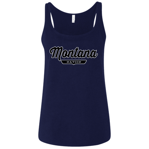 Navy / S Montana Nation Women's Tank Top - The Nation Clothing