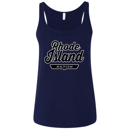 Navy / S Rhode Island Nation Women's Tank Top - The Nation Clothing