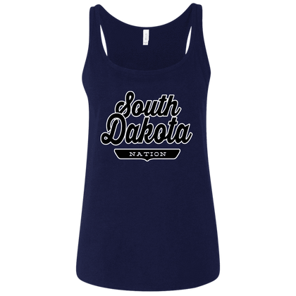 Navy / S South Dakota Nation Women's Tank Top - The Nation Clothing