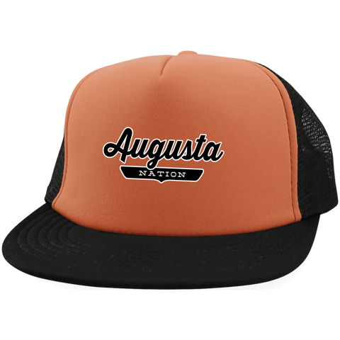 Neon Orange/Black / One Size Augusta Nation Trucker Hat with Snapback - The Nation Clothing