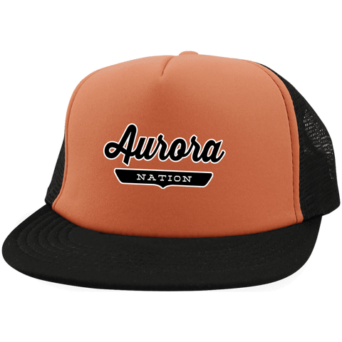Neon Orange/Black / One Size Aurora Nation Trucker Hat with Snapback - The Nation Clothing