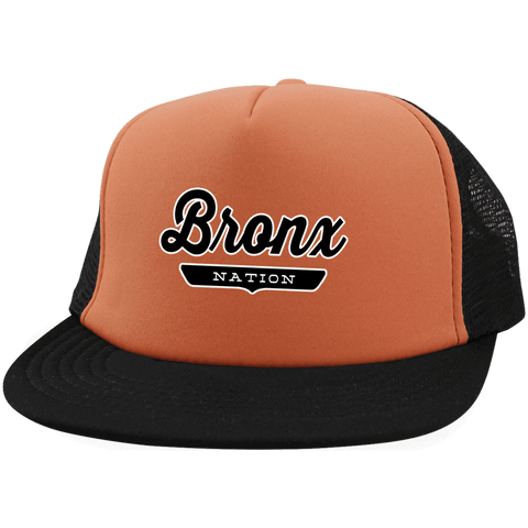 Neon Orange/Black / One Size Bronx Nation Trucker Hat with Snapback - The Nation Clothing