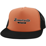 Neon Orange/Black / One Size Brownsville Nation Trucker Hat with Snapback - The Nation Clothing
