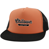 Neon Orange/Black / One Size Chitown Trucker Hat with Snapback - The Nation Clothing