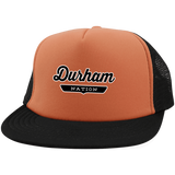 Neon Orange/Black / One Size Durham Nation Trucker Hat with Snapback - The Nation Clothing