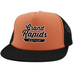 Neon Orange/Black / One Size Grand Rapids Nation Trucker Hat with Snapback - The Nation Clothing