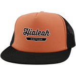 Neon Orange/Black / One Size Hialeah Nation Trucker Hat with Snapback - The Nation Clothing