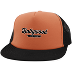 Neon Orange/Black / One Size Hollywood Nation Trucker Hat with Snapback - The Nation Clothing