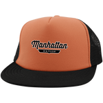 Neon Orange/Black / One Size Manhattan Nation Trucker Hat with Snapback - The Nation Clothing