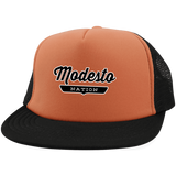 Neon Orange/Black / One Size Modesto Nation Trucker Hat with Snapback - The Nation Clothing
