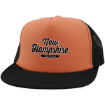 Neon Orange/Black / One Size New Hampshire Nation Trucker Hat with Snapback - The Nation Clothing