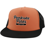 Neon Orange/Black / One Size Pembroke Pines Nation Trucker Hat with Snapback - The Nation Clothing