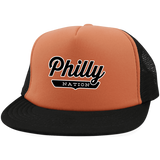 Neon Orange/Black / One Size Philly Trucker Hat with Snapback - The Nation Clothing