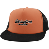 Neon Orange/Black / One Size Springfield Nation Trucker Hat with Snapback - The Nation Clothing