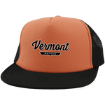 Neon Orange/Black / One Size Vermont Nation Trucker Hat with Snapback - The Nation Clothing