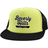 Neon Yellow/Black / One Size Beverly Hills Nation Trucker Hat with Snapback - The Nation Clothing
