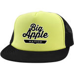 Neon Yellow/Black / One Size Big Apple Trucker Hat with Snapback - The Nation Clothing