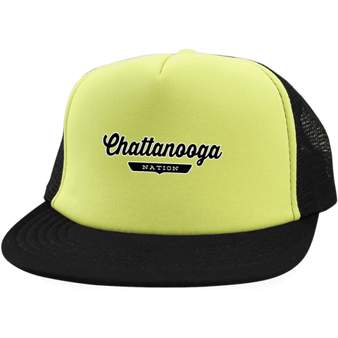 Neon Yellow/Black / One Size Chattanooga Nation Trucker Hat with Snapback - The Nation Clothing