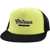 Neon Yellow/Black / One Size Chitown Trucker Hat with Snapback - The Nation Clothing