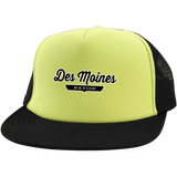 Neon Yellow/Black / One Size Des Moines Nation Trucker Hat with Snapback - The Nation Clothing