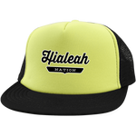 Neon Yellow/Black / One Size Hialeah Nation Trucker Hat with Snapback - The Nation Clothing