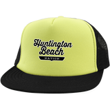 Neon Yellow/Black / One Size Huntington Beach Nation Trucker Hat with Snapback - The Nation Clothing