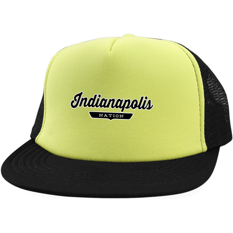 Neon Yellow/Black / One Size Indianapolis Nation Trucker Hat with Snapback - The Nation Clothing
