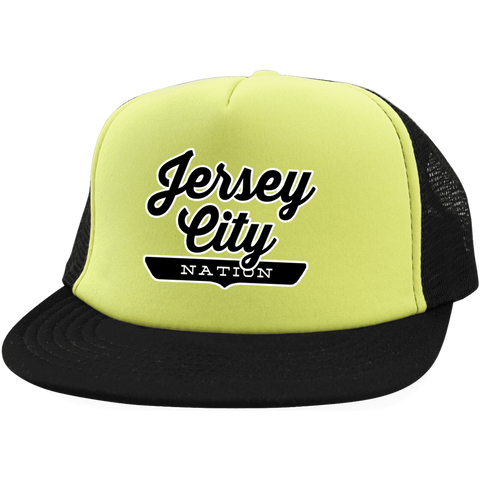 Neon Yellow/Black / One Size Jersey City Nation Trucker Hat with Snapback - The Nation Clothing