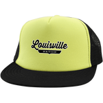 Neon Yellow/Black / One Size Louisville Nation Trucker Hat with Snapback - The Nation Clothing