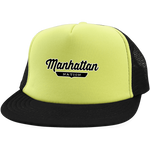 Neon Yellow/Black / One Size Manhattan Nation Trucker Hat with Snapback - The Nation Clothing